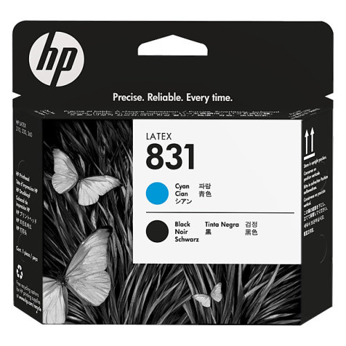 HP 831 Cyan and Black Printhead