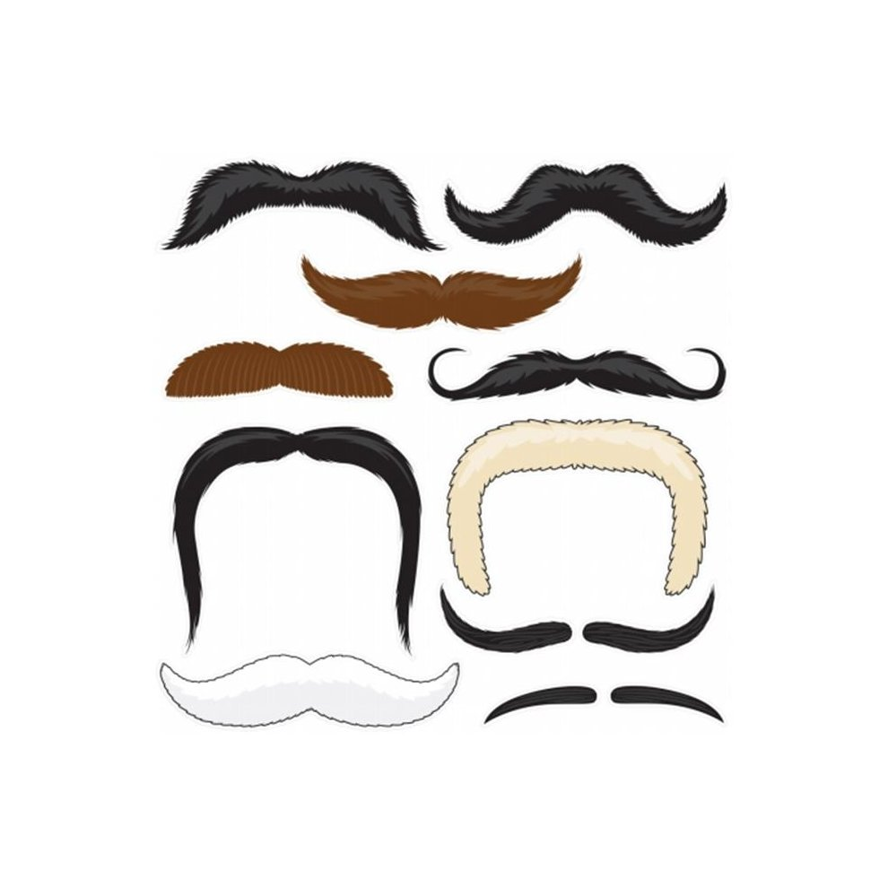 525897a60 Brybelly Holdings MPAR-002 Mr. Moustachios Stachoos, 10 Temporary Tattoo  Mustaches. >