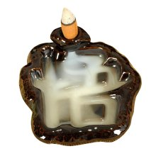 Ceramic Chinese Character Shape Incense Tower Burner
