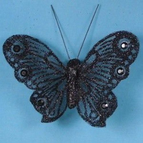 Artificial Glittered Butterflies