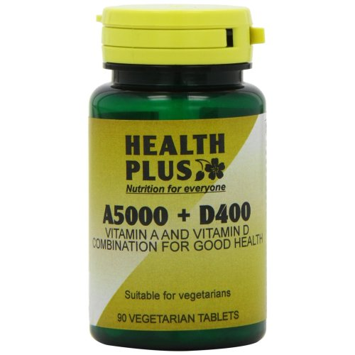 Health Plus A5000 + D400 Vitamins A & D Supplement - 2 X Packs Of 90 Tablets (180 Tablets)