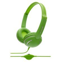 Groov-e Kids DJ Style Streetz Headphones with Volume Control - Green (GV897/GN)