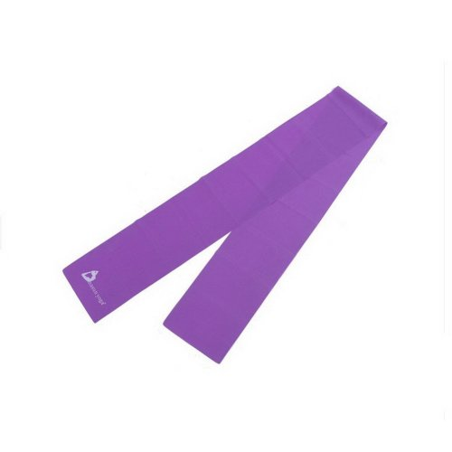 Exercise / Stretch / Resistance Band 5.9''Long Latex Yoga Band (Purple)