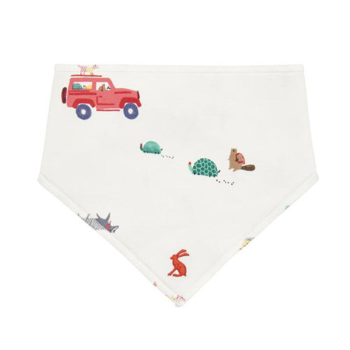 Joules Baby Bibby Boy Reversible Printed Bib Cream Scout And About