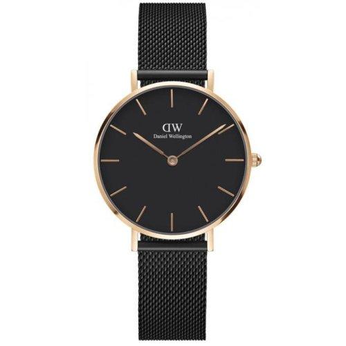 Daniel Wellington DW00100201 Watch Stainless Steel Black Female Rose Gold