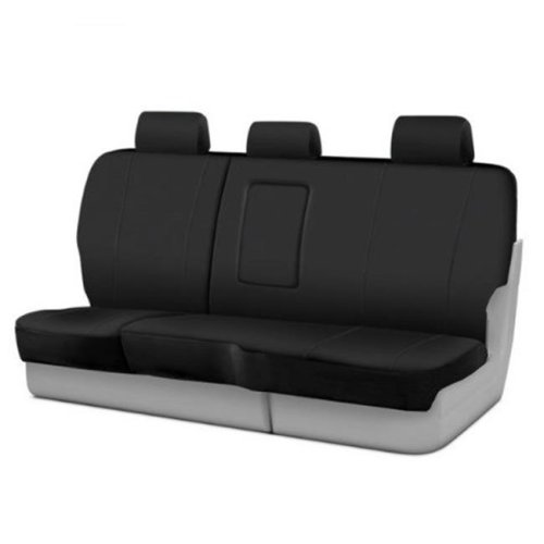 FIA SP8268BLAC Stimulated Leather 2nd Row Black Seat Covers for 60 40 2019 Chevy Silverado 1500
