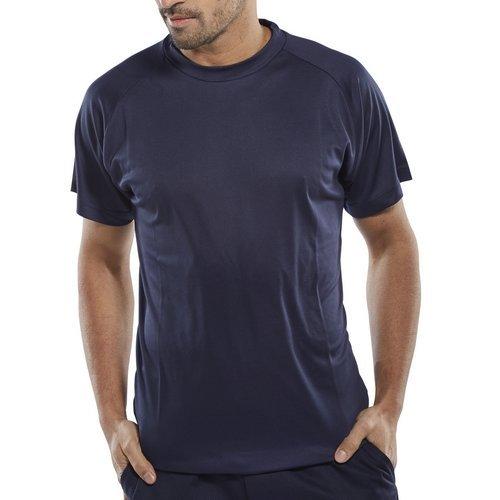Click BCTSN3XL T Shirt Moisture Absorbing Navy Blue 3XL