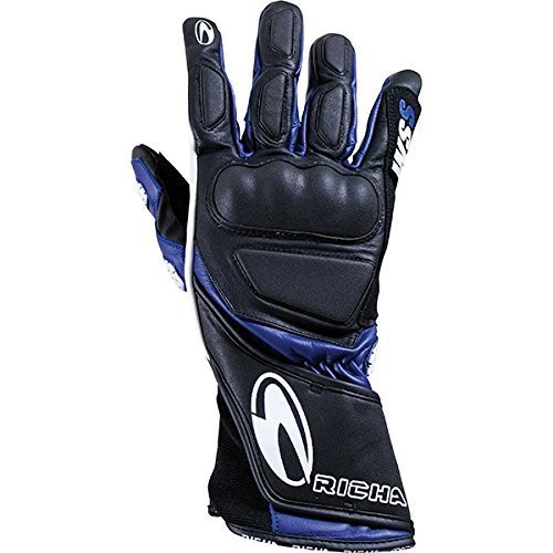 Richa WSS Blue Leather Sports Summer Racing Motorcycle Gloves