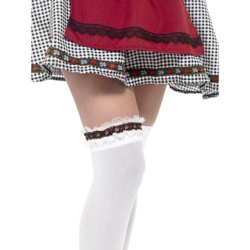 Bavarian Leg Garter, Red -  bavarian leg garter ladies oktoberfest fancy dress accessory beer girl german costume new