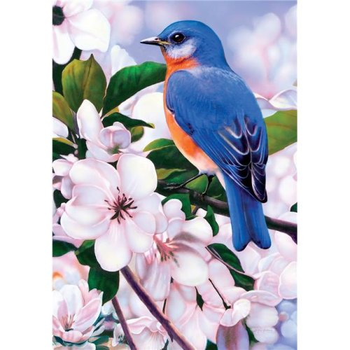 Captivating Bluebird Double Sided Garden Flag
