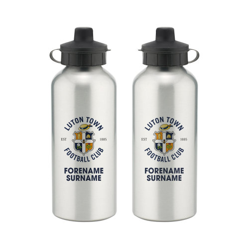Official Personalised Luton Town FC Bold Crest Water Bottle