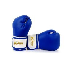 Men's Leatherette Boxing Gloves 8-oz Pro Training Gloves Blue