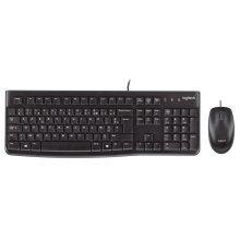 Logitech Desktop MK120, US USB QWERTY US International Black keyboard